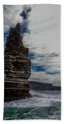 Cliffs Of Moher Stack Bath Towel