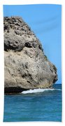 Cliffs On The Beach Dominican Republic  Hand Towel
