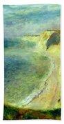 Cliffs On The Coast Near Pourville 1879 Bath Towel