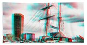Clipper City - Use Red-cyan 3d Glasses Bath Towel