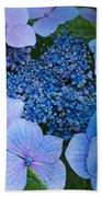 Close-up Of Hydrangea Flowers Bath Towel