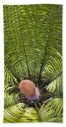 Close-up Palm Leaves Bath Towel