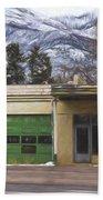 Closed Service Station Painterly Impressions Bath Towel