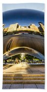Cloudgate In Chicago Bath Towel