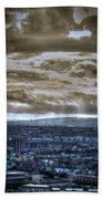 Clouds Over Bristol Hdr Split Toning Bath Towel