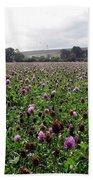 Clover Field Wiltshire England Bath Towel