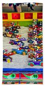 Clown Car Racing Game Bath Towel