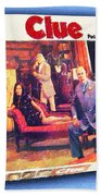 Clue Board Game Painting Bath Towel