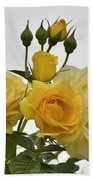 Cluster Of Yellow Roses Bath Towel