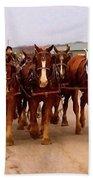 Clydesdale Amish Plow Team Bath Towel
