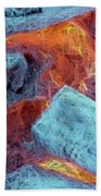 Coals And Embers Bath Towel