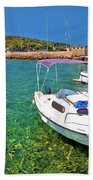 Coast And Beach Of Prvic Island Summer View Bath Towel