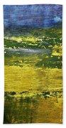 Coastal Marsh View Abstract Bath Towel