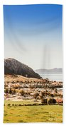 Coastal Tasmanian Town Bath Towel