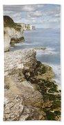 Coastline Viewed From Thornwick Bay Flamborough Bath Towel