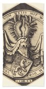 Coat Of Arms With A Lion Bath Towel