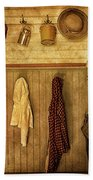 Coat Room At The Old Schoolhouse Bath Towel