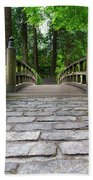Cobblestone Path To Wood Bridge Bath Towel