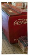 Coca-cola Chest Cooler General Store Bath Towel
