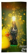 Coca-cola Forever Young 5 Bath Towel by James Sage
