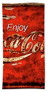 Coca Cola Square Soft Grunge Bath Towel