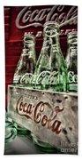 Coca Cola Vintage 1950s Bath Towel