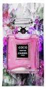 Coco Chanel Parfume Pink Bath Towel