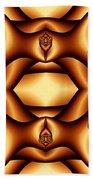 Cocoa Fractal Roses Bath Towel