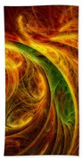 Cocoon Of Glowing Spirits Abstract Bath Towel