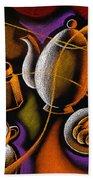 Coffee Hand Towel by Leon Zernitsky