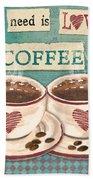 Coffee Love-jp3593 Bath Towel