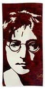 Coffee Painting John Lennon Bath Towel