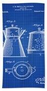 Coffee Pot Patent 1916 Blue Print Bath Towel