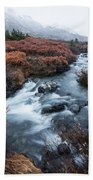 Cold Creek In Autumn Bath Towel