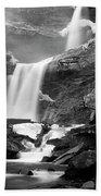 Cold Spring Morning At Kaaterskill Falls II Bath Towel