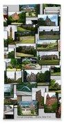 Collage Cornell University Ithaca New York Vertical 02 Bath Towel