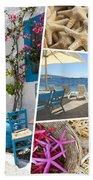 Collage Of Crete  Bath Towel