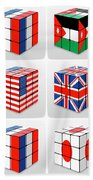 Collage Of Flags Of Different Nation  Bath Towel