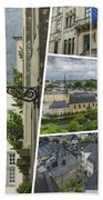 Collage Of Luxembourg Images Bath Towel