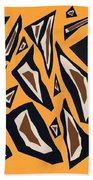 Collage Yellow Black Brown Hand Towel