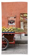 Colombia Fruit Cart Bath Towel