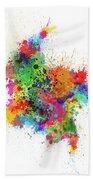 Colombia Paint Splashes Map Bath Towel