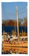 Colonial Beach Docks Bath Towel