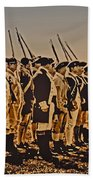 Colonial Soldiers On Parade Bath Towel