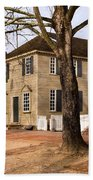 Colonial Street Scene Bath Towel