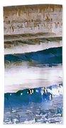 Color Movement-blue And Beige Bath Towel