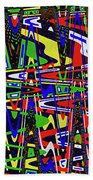 Color Works Abstract Bath Towel