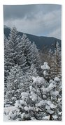 Colorado Foothills Winter Panorama Bath Towel