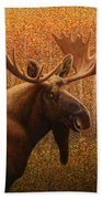 Colorado Moose Bath Towel by James W Johnson