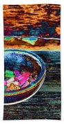 Colored Chalk Bath Towel